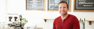 Irish cafe owner and barista buys low cost great value business insurance from insure my shop